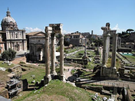 Forum Romanum [Blick vom Tabularium] (2013)