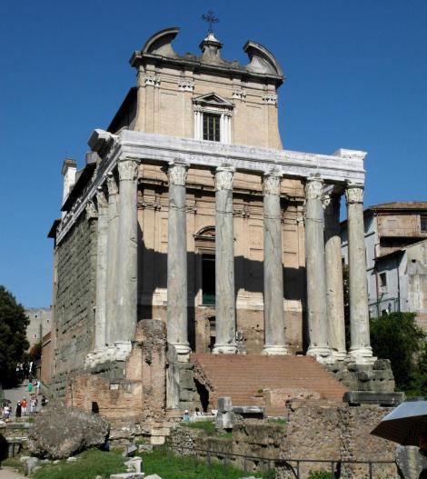Forum Romanum: Tempel des Antoninus Pius und der Faustina (2013)