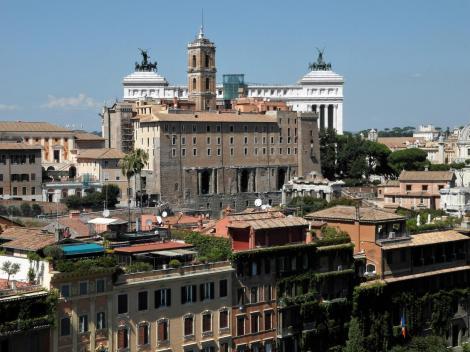Blick vom Palatin zum Kapitol (2013)