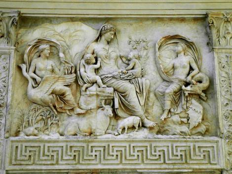 Ara pacis - Friedensaltar des Augustus Tellusfries (2013)