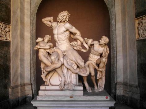 Vatikanische Museen - Museo Pio-Clementino: Laokoongruppe im Ottagono-Hof (2013)