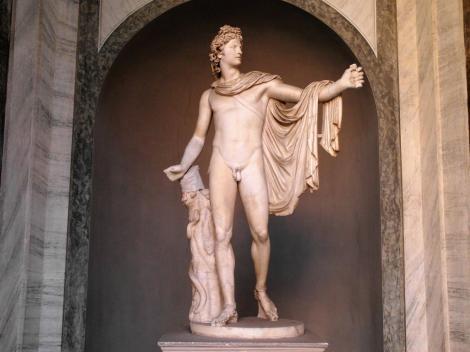 Vatikanische Museen - Museo Pio-Clementino: Apoll von Belvedere im Ottagono-Hof (2013)