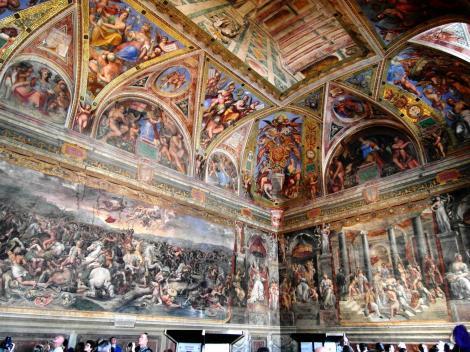 Vatikanische Museen - Stanzen des Raffael: Constantinsaal (2013)