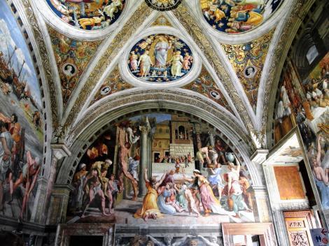 """Vatikanische Museen - Stanzen des Raffael: Saal des Brandes von Borgo """"Der Brand von Borgo"""" (2013)"""