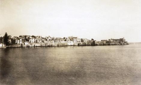 Syrakus: Blick auf die Altstadt (Photo von Dr. Friedrich Fichtner 1927)