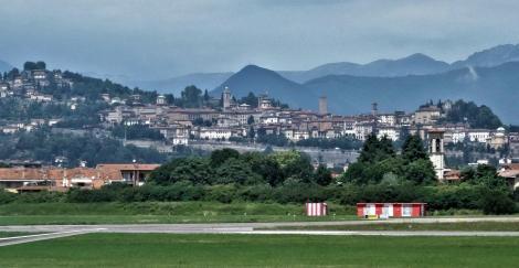 Bergamo: Blick auf die Stadt am Rande der Alpen (2018)