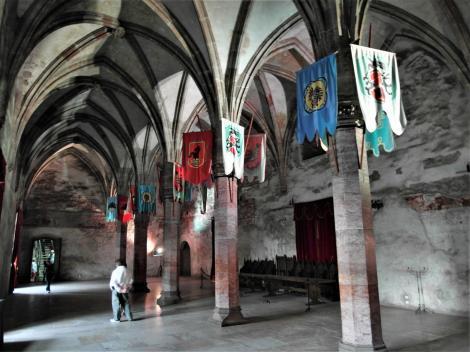 Eisenmarkt: Hunyadi-Burg - Großer Saal im Obergeschoss (2018)