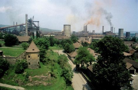 Eisenmarkt: Stahlwerk aus früherer Zeit (1991)