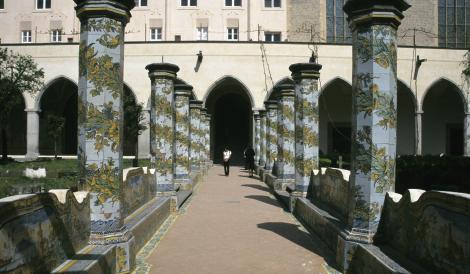 Neapel: Kirche Santa Chiara - Kreuzgang (2000)