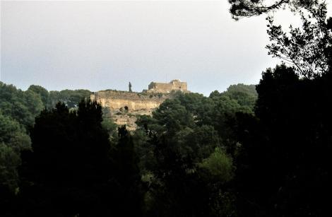 Capri: Blick zur Villa Jovis [Palast von Kaiser Tiberius] (2000)