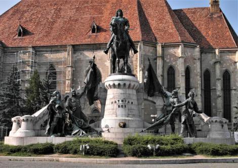 Klausenburg: Denkmal für König Matthias Corvinus (2018)