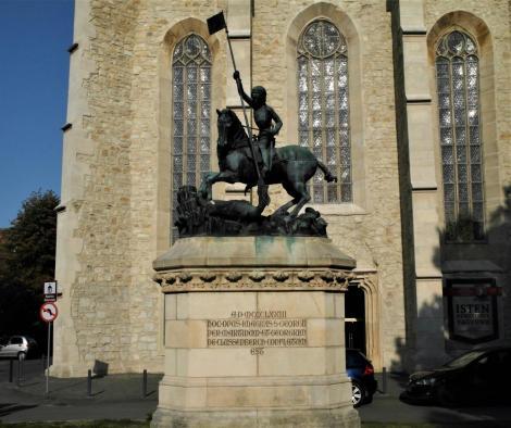 Klausenburg: Georgsstatue [Kopie der Prager Statue] (2018)
