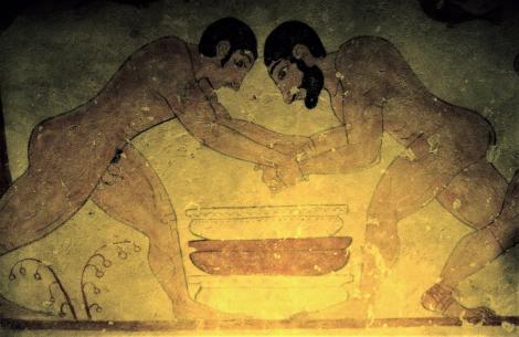 Tarquinia: Etruskermuseum - Rekonstruktion des Grabes der Auguren [Tomba degli Auguri - Ausstellung Hamburg] (2004)