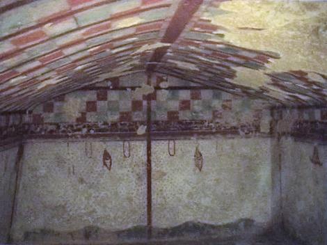 Tarquinia Nekropole - Grab des Jägers [Tomba del Cacciatore] - Imitation eines Jagdzeltes (2002)