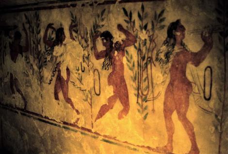 Tarquinia: Nekropole - Rekonstruktion des Citaredo-Grabes [Tomba del Citaredo - Ausstellung Hamburg] (2004)