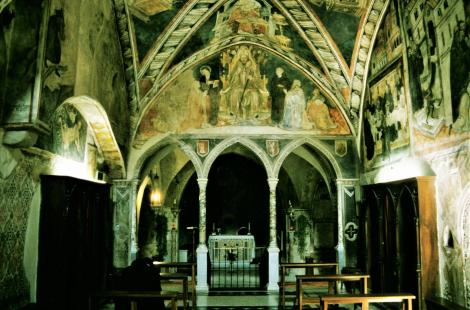 Subiaco: Sacro Speco - Oberkirche (2002)