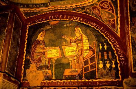 Anagni: Dom - Krypta mit der Darstellung von Hippokrates und Galienus (2002)