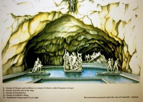 Sperlonga: Archäologisches Museum - Rekonstruktion der Tiberius-Grotte (2002)