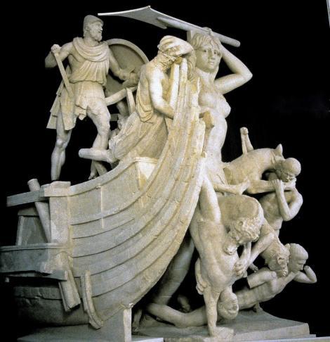 Sperlonga Archäologisches Museum - Rekonstruktion der Skylla-Gruppe aus der Tiberius-Grotte (2002)