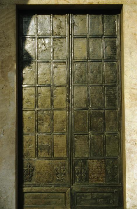 Montecassino: Portal der Abteikirche (2002)