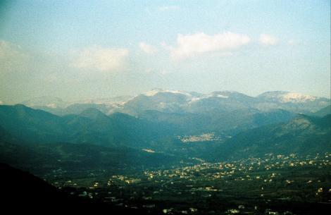 Blick von Montecassino auf die Abruzzen (2002)