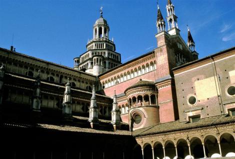 Pavia: Kartause - Blick aus dem Kreuzgang (2002)