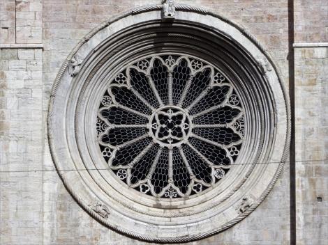Trient: Dom - Radfenster der Westseite (2017)