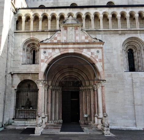 Trient: Dom - Bischofsportal an der Nordseite (2017)