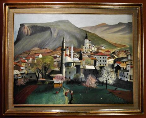 """Fünfkirchen: Csontváry-Museum - """"Frühlingsbeginn in Mostar"""" (2018)"""