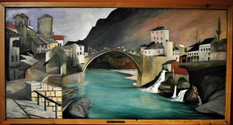 "Fünfkirchen: Csontváry-Museum - ""Römische Brücke in Mostar"" (2018)"
