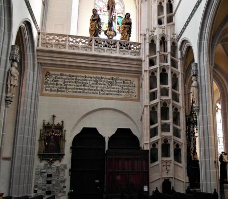 Kaschau: Elisabeth-Dom - Königsempore und Zwillingswendeltreppe (2018)