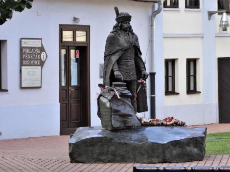 Kaschau: Rakoczi-Gedenkstätte - Rakoczi-Statue (2018)
