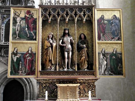 Leutschau: Jakobskirche - Vir dolorum-Altar [auch Corvinus-Altar] (2018)