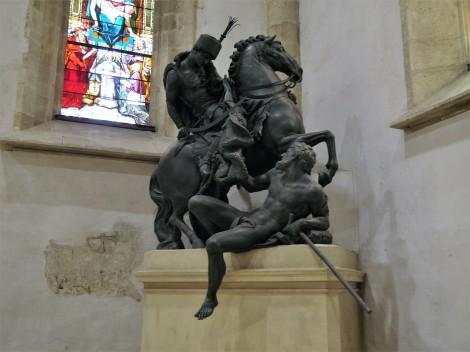 Pressburg: Martinsdom - Statue des Martin mit Bettler von Georg Raphael Donner (2018)