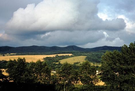 Pistyan (slowak. Piešťany): Blick zum Inowetzgebirge (1980)
