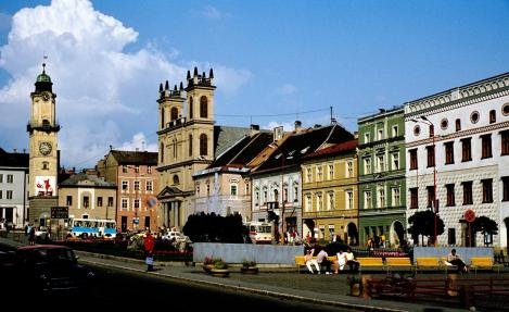 Neusohl [slowak. Banská Bystrica]: Marktplatz (1980)