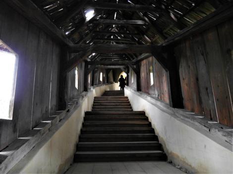 Birthälm: Kirchenburg - gedeckter Treppenaufgang (2018)