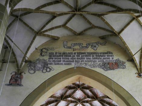 Birthälm: Kirchenburg - Triumphbogen in der Kirche (2018)