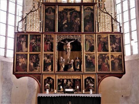 Birthälm: Kirchenburg - Kirche Altar (2018)