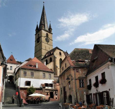 Hermannstadt: Sagstiege mit Evangelischer Stadtpfarrkirche (2018)