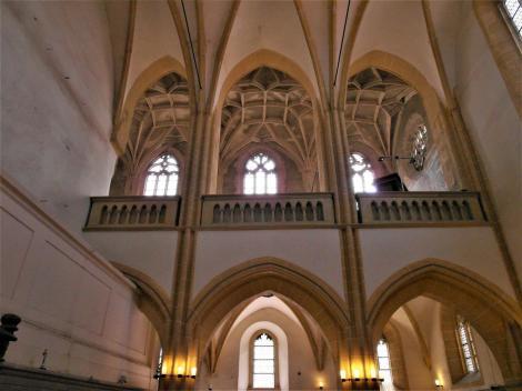 Hermannstadt: Evangelische Stadtpfarrkirche - Ferula mit Südempore (2018)