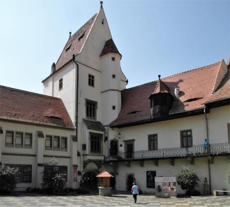 Hermannstadt: Altes Rathaus [Haus Altemberger] - Innenhof mit Wohnturm (2018)