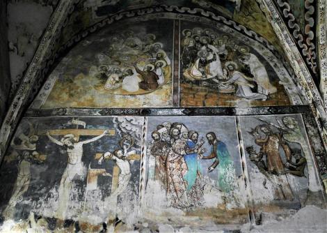 Malmkrog: Kirchenburg - nördliche Chorwand der Kirche (2018)