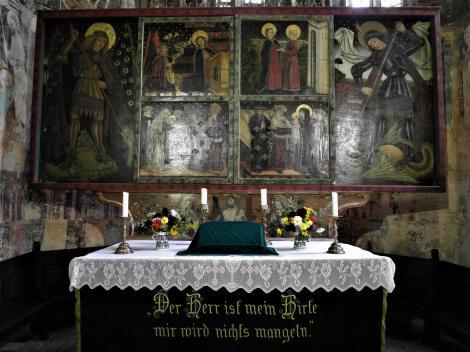 Malmkrog: Kirchenburg - Kirche Altar (2018)
