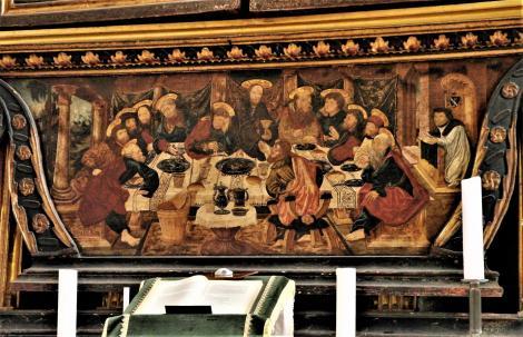 Mediasch: Kirchenburg - Kirche Predella des Hauptaltars (2018)