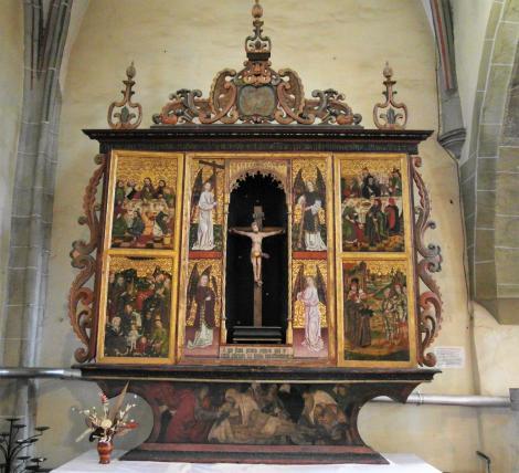 Mediasch: Kirchenburg - Kirche Tobsdorfer Altar (2018)