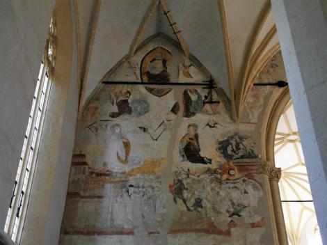Schäßburg: Bergkirche - Jüngstes Gericht an der Ostwand des nördlichen Seitenschiffs (2018)