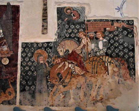 Dersch (rum. Dârjiu, ung. Székelydersz): Kirchenburg - unitarische Kirche [Paulus fällt vom Pferd] (2018)