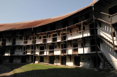 Tartlau (rum. Prejmer): Kirchenburg - Wohn- und Vorratskammern (2018)