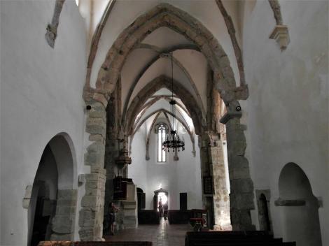 Tartlau (rum. Prejmer): Kirchenburg - Querschiff der Kirche (2018)